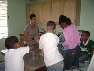 2008 - Jen teaching a cooking class