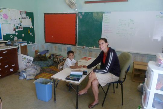 2012 - Jen teaching Gaby