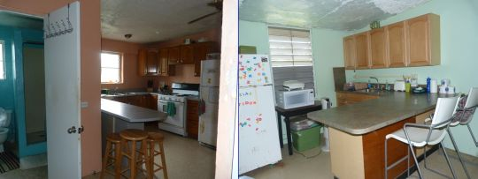 staff kitchen and dorm kitchenette